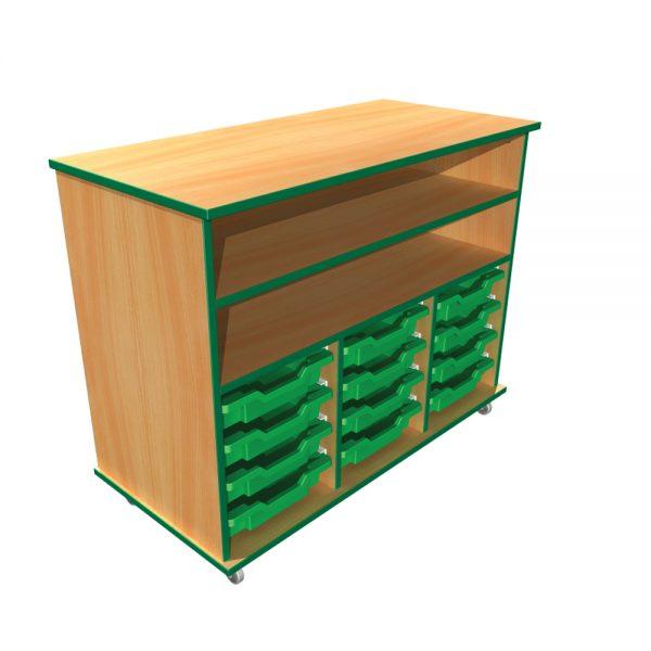 12 Tray + 1 Fixed Shelf Unit