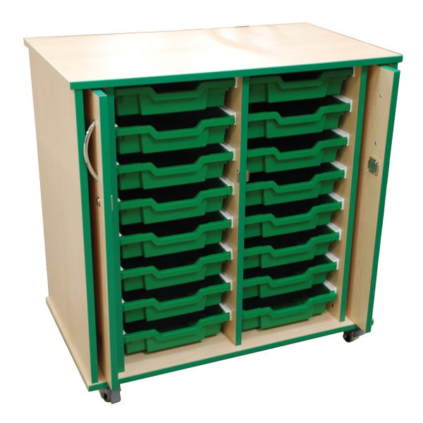 16 Tray Unit with retractable doors
