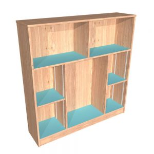 Conway Single Sided Bookcase with 2 adjustable shelves
