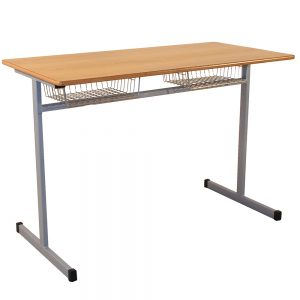 Dual-Grouping-Cantilever Desk Dual Basket