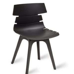 Hoxton Side Chair Black R Frame Black