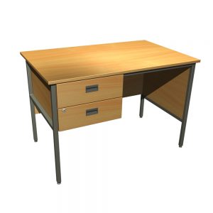 Single Pedestal Steel Underframe Desk